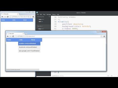 HTML5 | Create custom Navigation Bar using HTML5 and CSS
