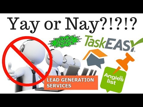 Lead Generation Services | Are they worth it?  Angie's List, Home Advisor, and the Like