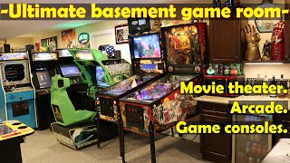 Ultimate basement game room tour - arcade, movie theater, and more