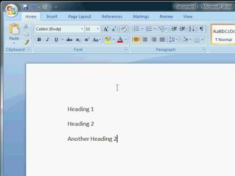 Tutorial: Automatic heading numbering in MS Office Word 2007