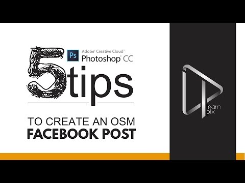 5 EASY TIPS | how to create quick facebook Post with Adobe Photoshop CC 2015