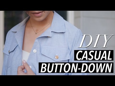 How to Make a Button Down Shirt (casual chambray) | WITHWENDY
