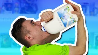 i can drink this milk in 1 second..