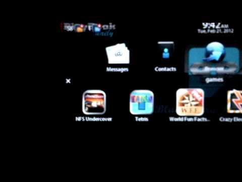 BlackBerry PlayBook 2.0 Creating Folders
