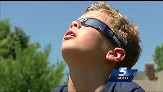 Fourth-grade student describes eclipse as 'somebody ate a cookie'