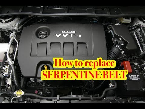 2007-2012 Toyota Carolla/Yaris 1.8L Engine Serpentine Belt Replacement