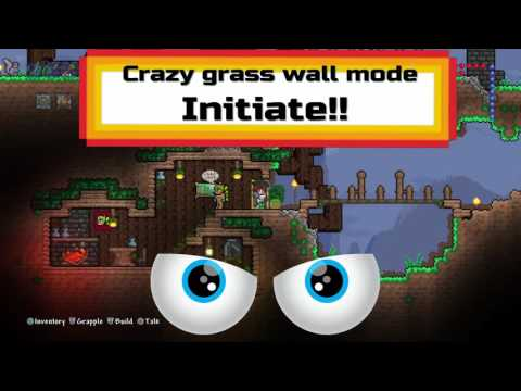grass wall...GRASS WALL!!😵 Road to 1.3 Terraria Console Lets Play