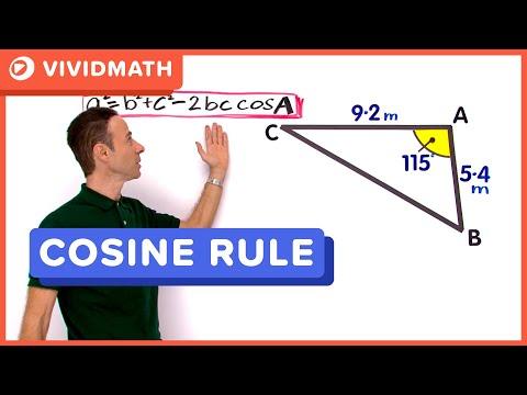 Maths Help: Cosine Rule - VividMaths.com