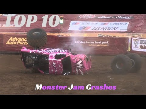 TOP 10 Monster Jam Crashes