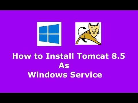 How to install Apache Tomcat 8.5.16 as Windows service and Uninstall