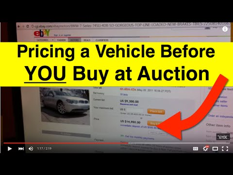 How To Price A Vehicle Before You Purchase at a Dealer Auction