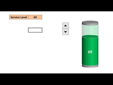 How to create a battery chart in excel