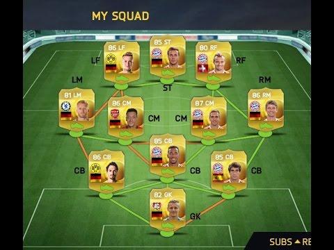 FIFA 15 Ultimate Team iOS Crazy Bundesliga Squad!!