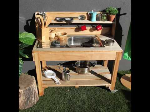 Messy Play in the Mud Kitchen