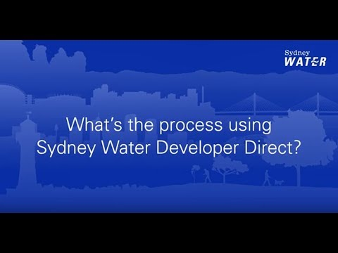 Sydney Water Developer Direct process