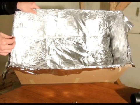 DIY $20 cardboard and aluminum foil oven for baking high temperature paint onto metal