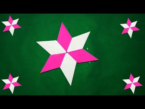 DIY origami star-How to make origami paper star?#easy paper craft