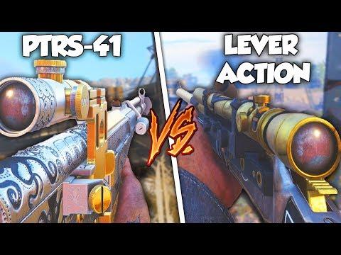 PTRS-41 vs LEVER ACTION...😍 (DLC WEAPON SHOWDOWN) - COD WW2 DLC WEAPONS
