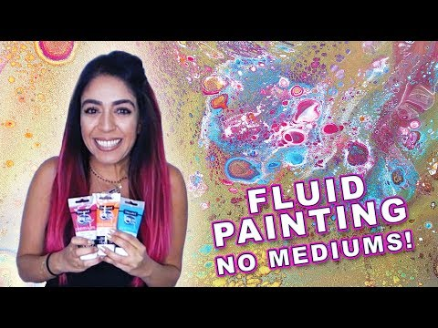 Fluid Pouring Cell Painting Tutorial - NO MEDIUM only WATER! DecoArt Review