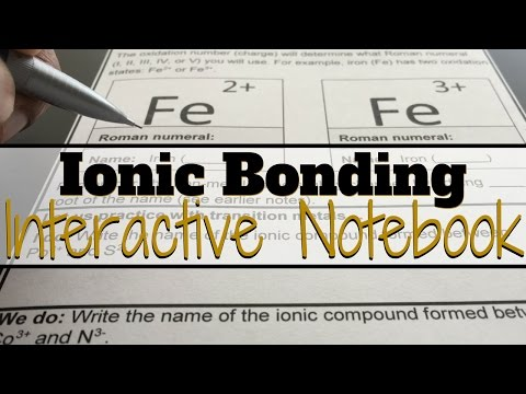 Ionic Bonding and Ionic Compounds for Interactive Notebooks