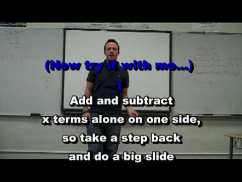 Dance Steps to Solving and Equation Instructional video