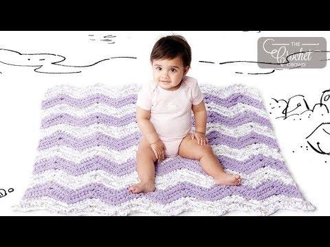 How to Crochet Simple Chevron Baby Blanket
