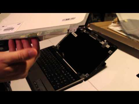 Laptop screen replacement / How to replace laptop screen Acer Aspire TimelineX 5820T