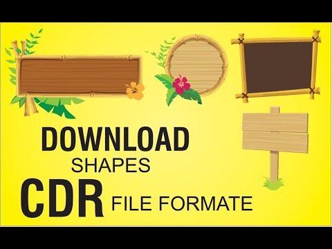 Download Vector | Label CDR File | Corel Draw Tutorial by Graphic Designer TV
