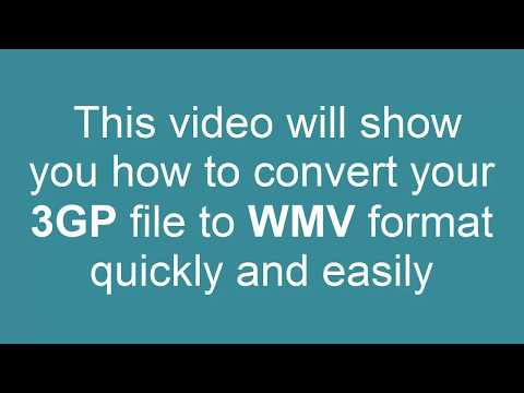 How to Convert 3GP to WMV