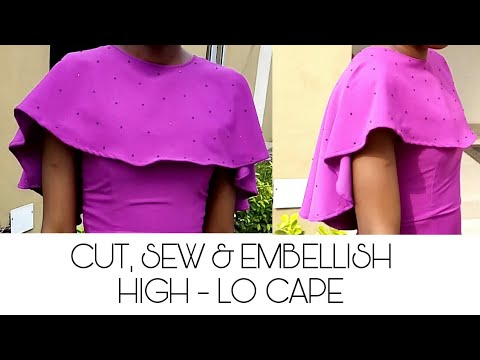 HOW TO CUT & SEW A HIGH-LO CAPE | APPLICATION OF RHINESTONES WITH SOLDERING IRON