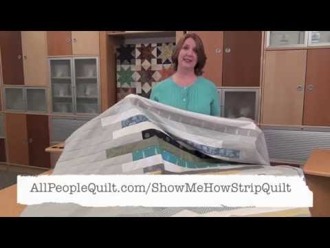 Skinny Strip Quilt: Show Me How
