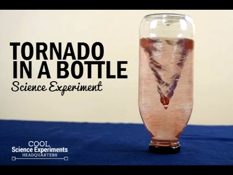 Tornado in a Bottle Science Experiment