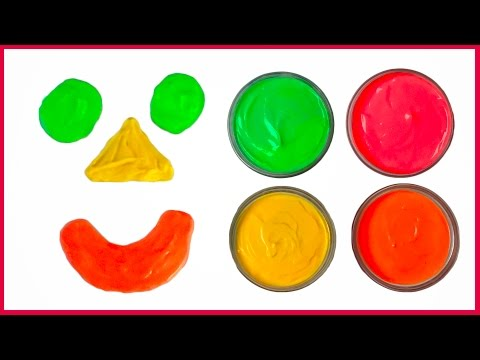 Learn Colors with DIY Edible Paint for Children