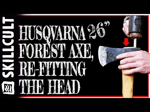 Husqvarna Forest Axe, Head Wobble Fix:  Tight at Bottom, Front to Back and Side to Side