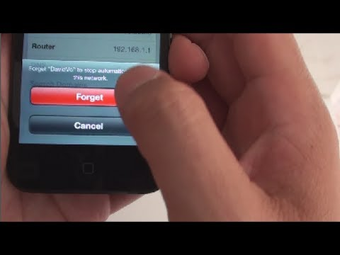 iPhone 5: How to Forget a Current Wi-Fi Network