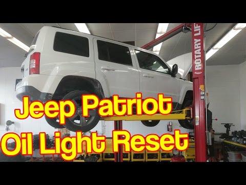 Jeep Patriot Oil Change Reset / Oil Life Reset