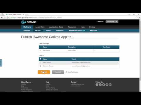 How to Publish an App