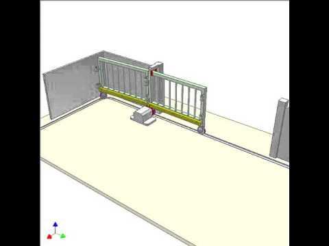 Slide folding gate