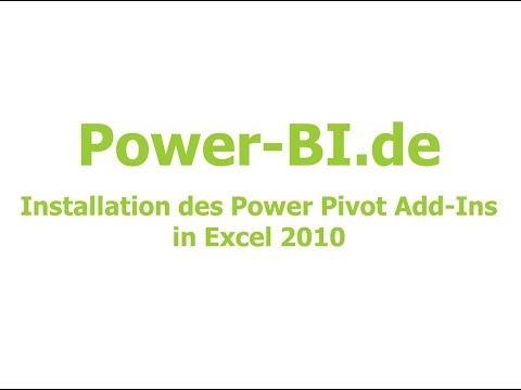 Excel 2010 Power Pivot Add-In installieren