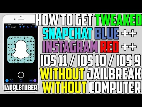 How To Get Tweaked Snapchat Blue ++ & Instagram Red ++ (NO Jailbreak NO Computer) iPhone, iPad, iPod