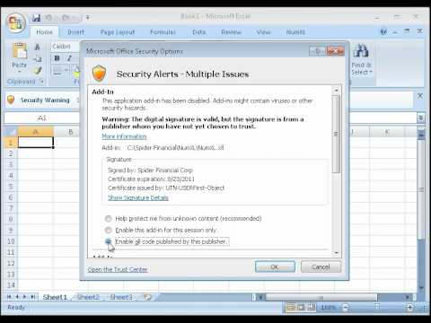 How to Set Excel Security Permissions