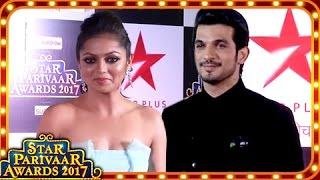 Arjun Bijlani And Drashti Dhami Sizzling Hot Look At Star Parivaar Awards 2017