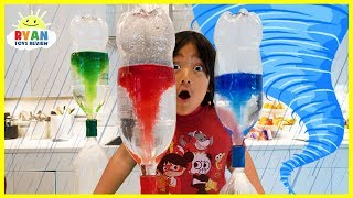 Children can learn how to make tornado and learn all about How Do Tornadoes Form??? Easy and simple science experiments for kids to do at home!