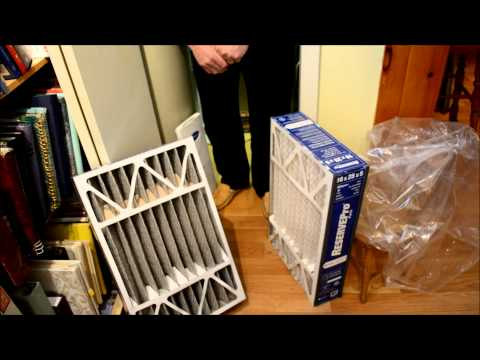 Furnace filter DIY how why and when to change forced air gas furnace filter