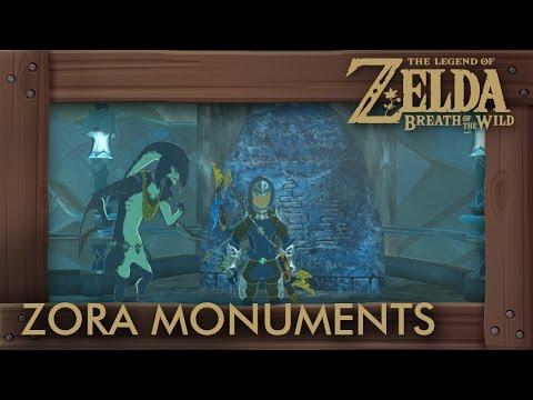 Zelda Breath of the Wild - Zora Stone Monuments Side Quest (History of the Zora)