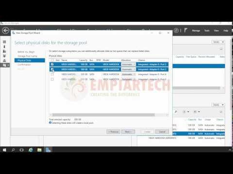 Implementing Storage Pool in Windows Server 2016 in HINDI