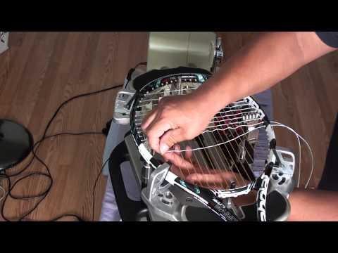 hybrid tennis stringing job 1-2