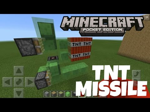 How to make a TNT Missile in Minecraft PE
