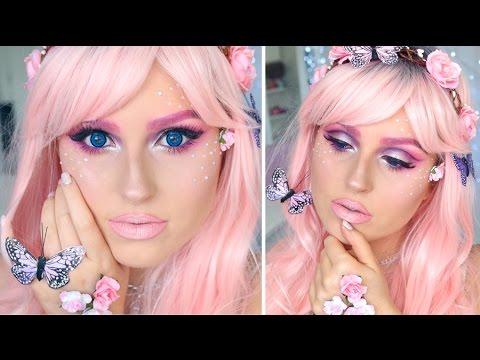 Pink Fairy Princess ♡ Pretty Halloween Makeup!