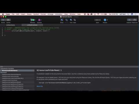 Using jQuery in Tumult Hype 3 Pro